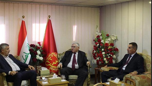 سكرتير الشيوعي العراقي يستقبل شخصيات من محافظة صلاح الدين