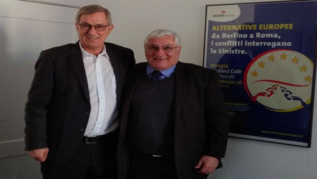 في برلين.. رائد فهمي يلتقي رئيسي حزب اليسار الألماني  وحزب اليسار الاوروبي