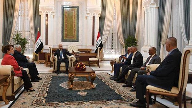 وفد من الشيوعي العراقي يلتقي رئيس الجمهورية